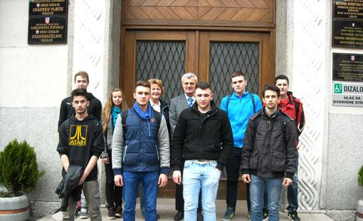 Učenici Obrtničke i tehničke škole Ogulin kod gradonačelnika