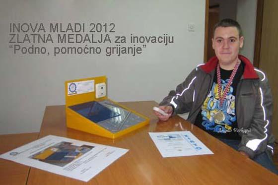 Zlatna medalja ogulinskom učeniku na INOVI-MLADIH 2012